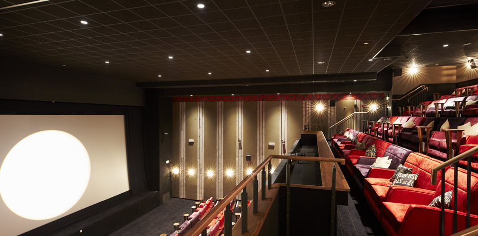 An image of Everyman cinema with sound resistant linings, fitted by Construction Interior Design Ltd.