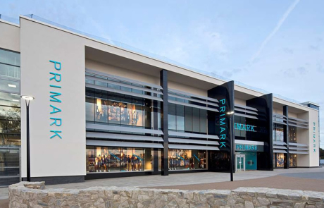 An image of the outside of a large Primark store in Westwood Cross.
