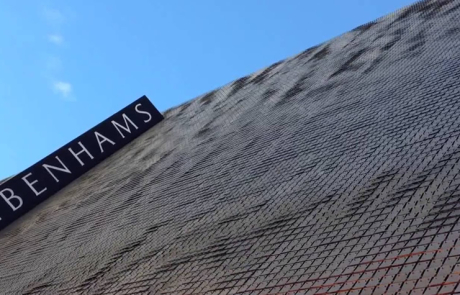 An image of the outside of Debenhams flagship store in Oxford Street, London.