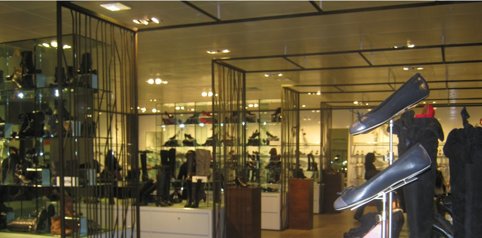 An image of the inside of Debenhams, following on from refurbishment.