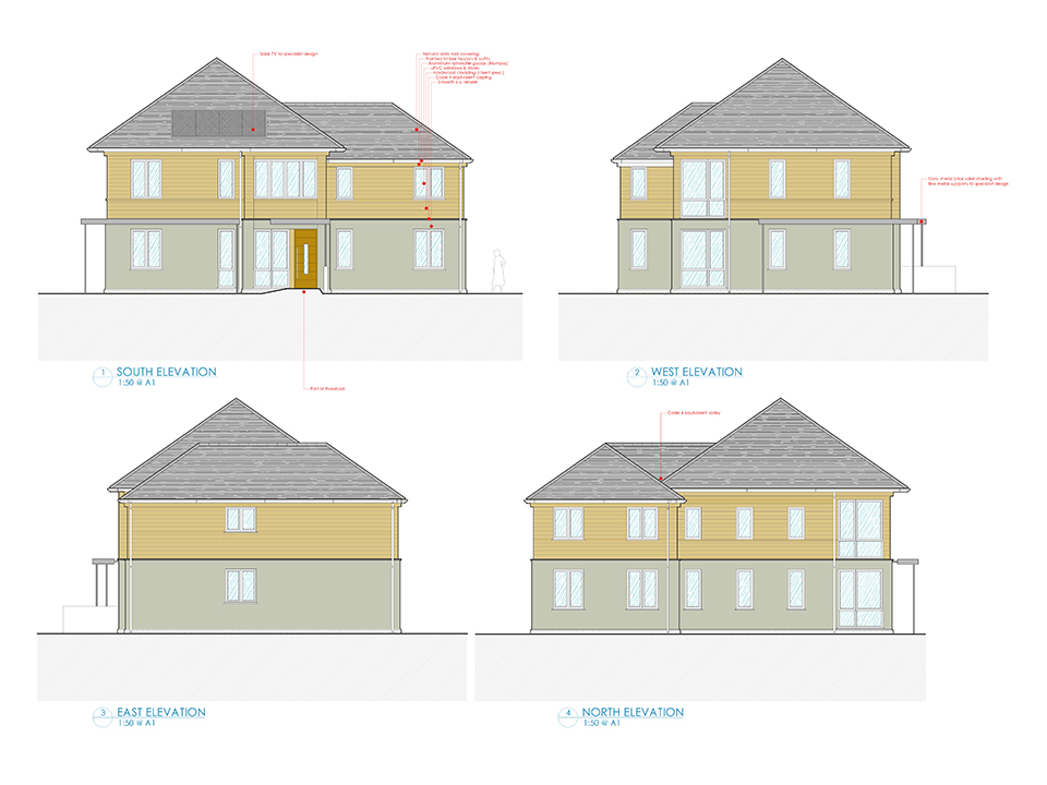 An image of architectural drawings for an apartment block over two stories, created by an architect at Construction Interior Design.