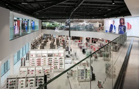 An image of the inside of Debenhams department store in Stevenage, where Construction Interior Design have installed dry lining and partitions.