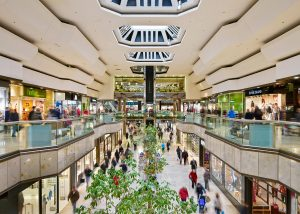 An image of Queensgate Shopping Centre in Peterborough, where Construction Interior Design have carried out construction work.
