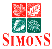 An image of the Simons logo, featuring red and green leaves.