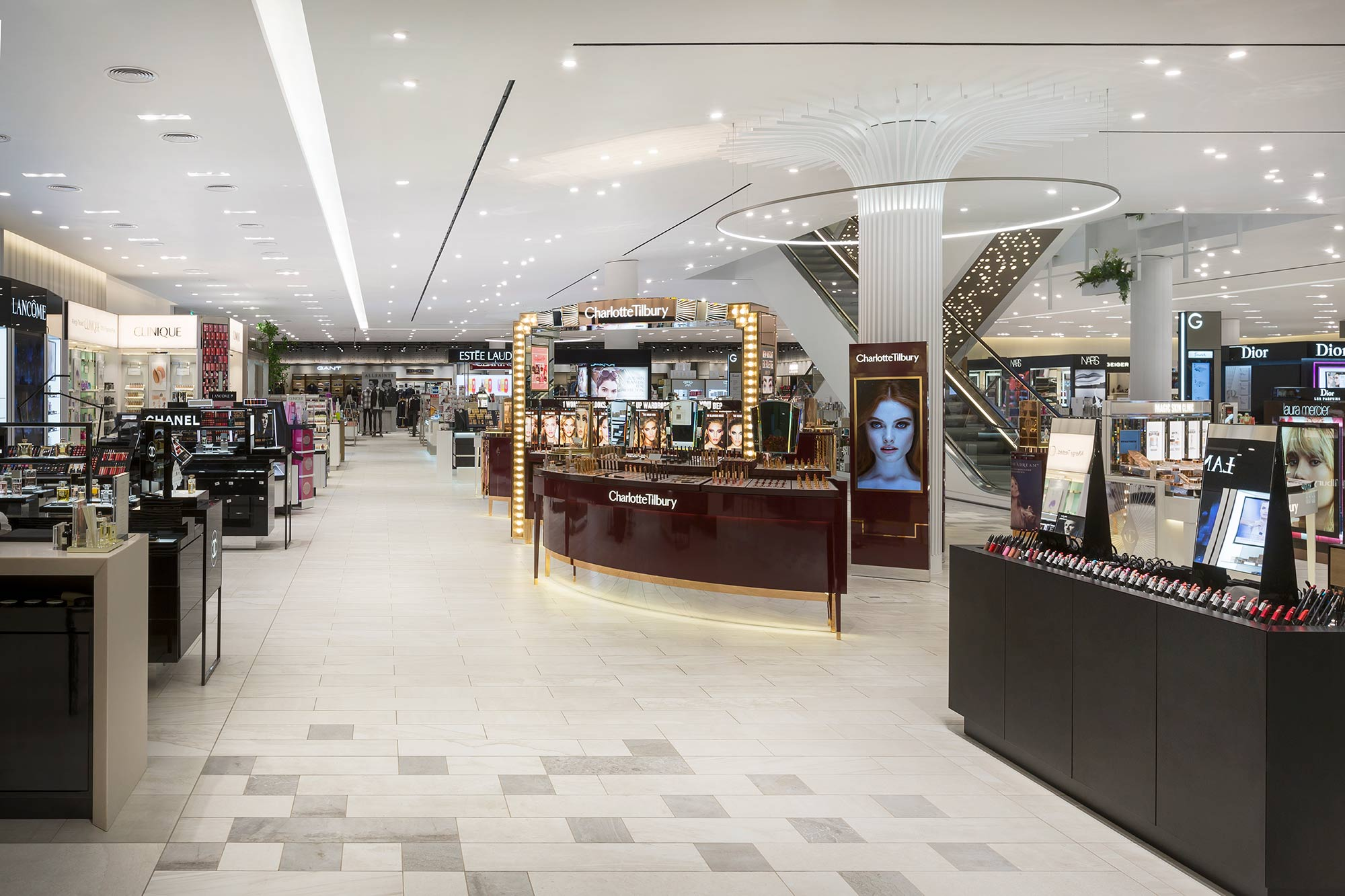 An image of the beauty department inside Fenwick, The Lexicon in Bracknell which has been refurbished.