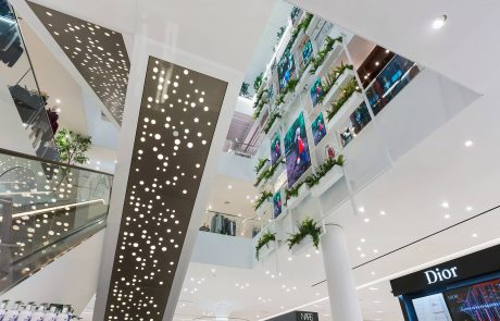 An image of a suspended ceiling created inside Fenwick, The Lexicon, in Bracknell.
