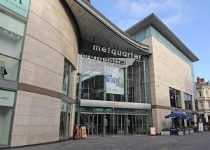An image of the outside of the Met Quarter in Liverpool, following refurbishment.