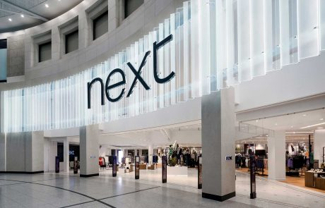 An image of the outside of Next in the Arndale Centre in Manchester, following on from refurbishment by Construction Interior Design.