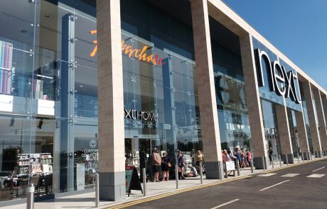 An image of the outside of retailer, Next, after renovation by Construction Interior Design Ltd.