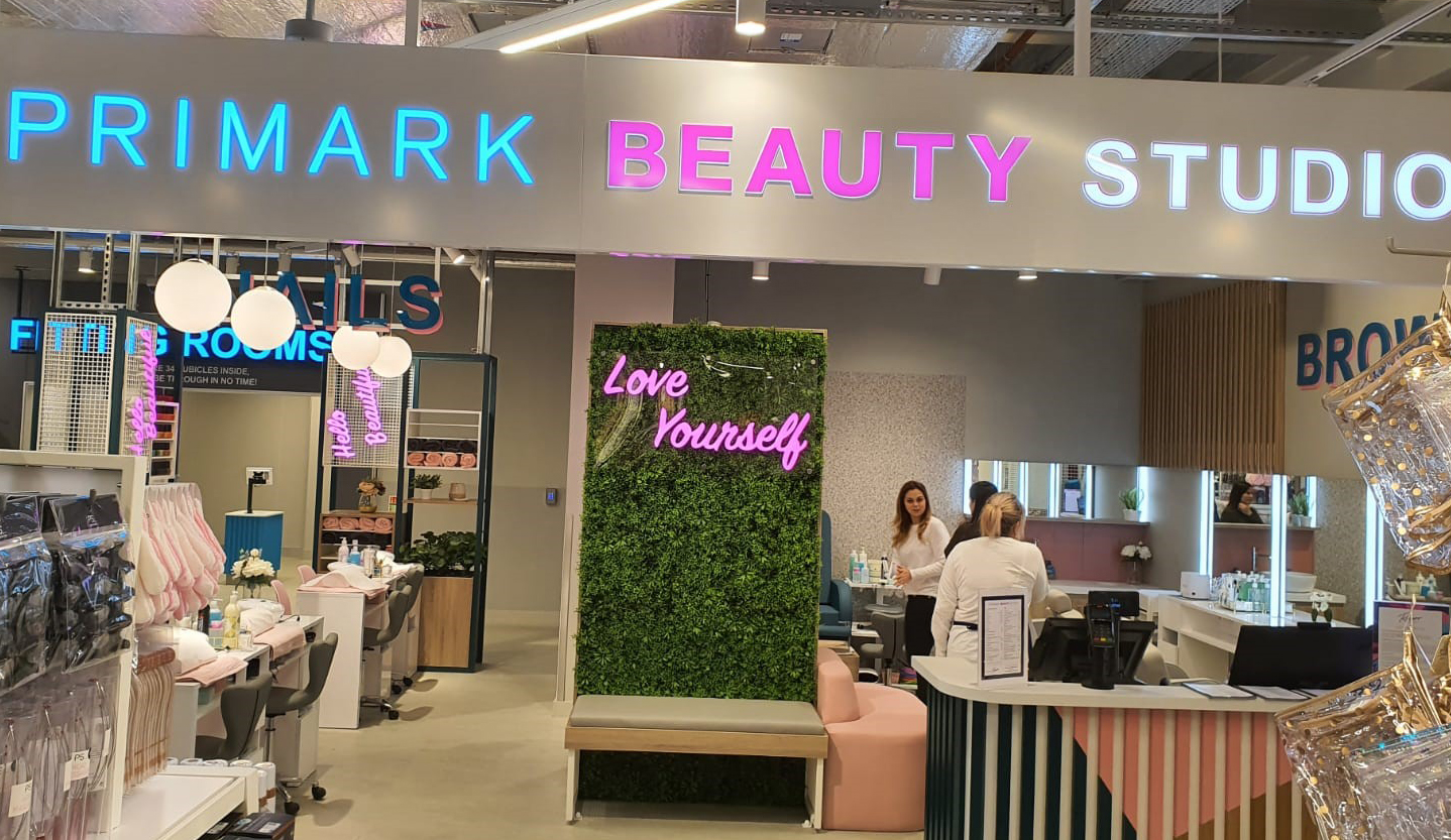 An image of the beauty bar in Primark, Norwich
