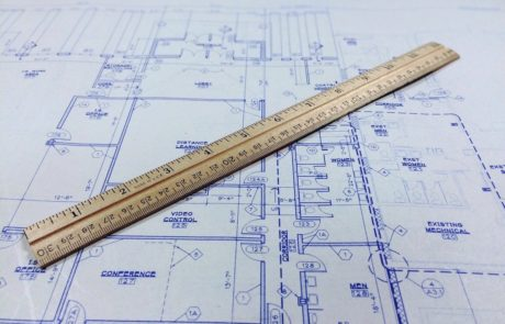An image of a building's blueprint
