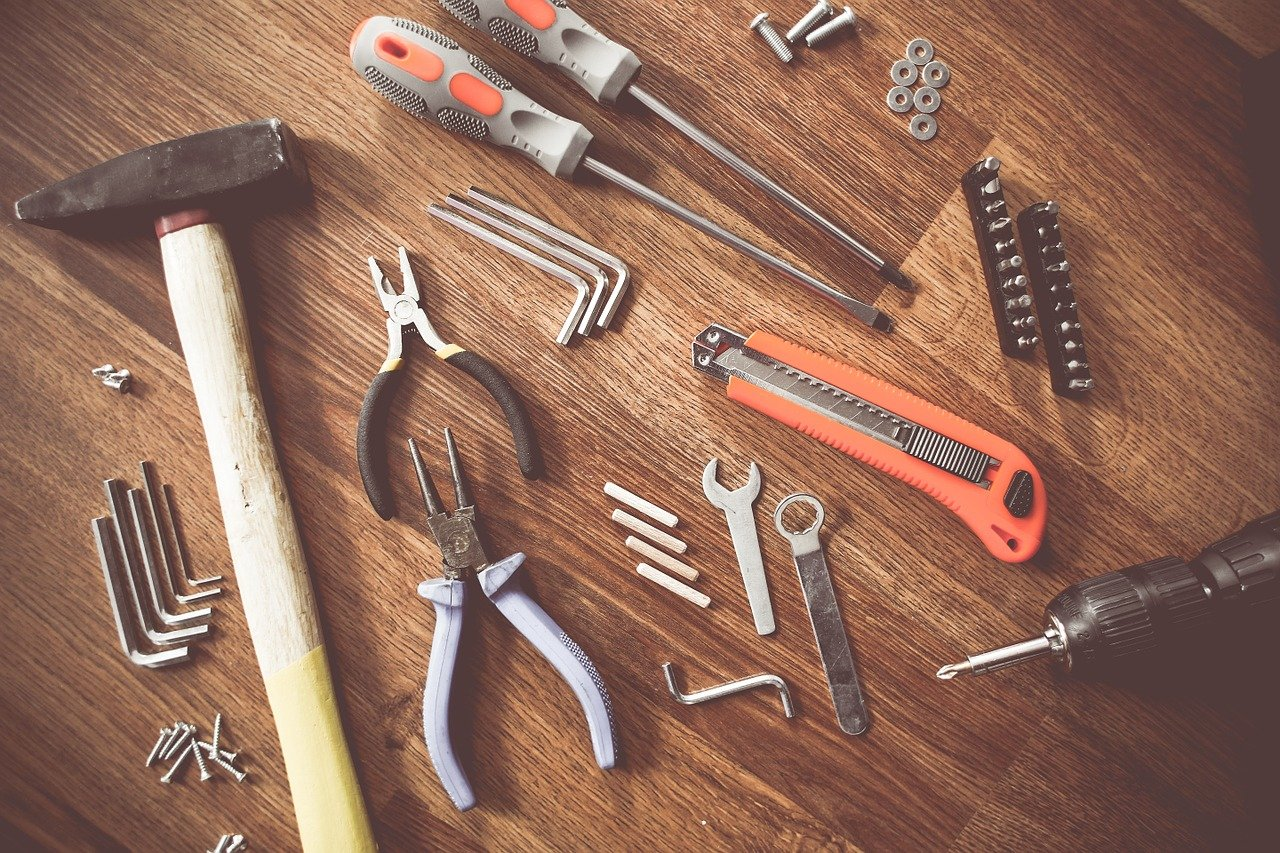 Image of tools on a table